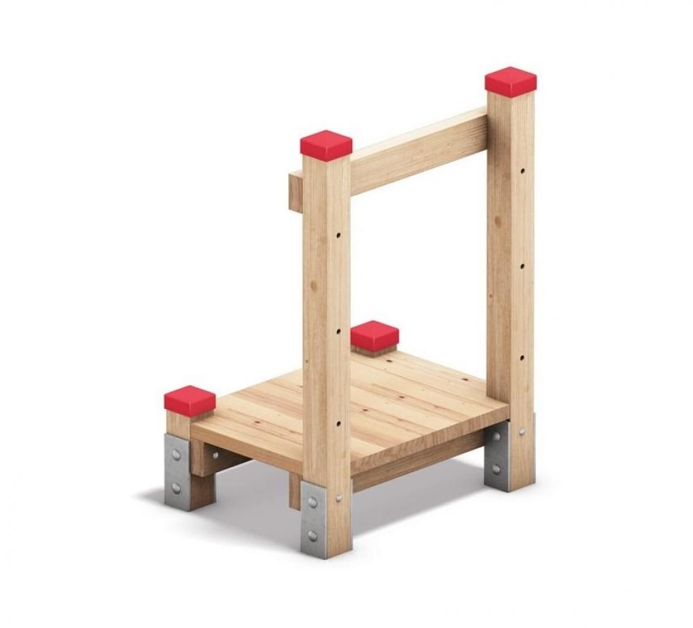 Holzpodest für Hangrutschen