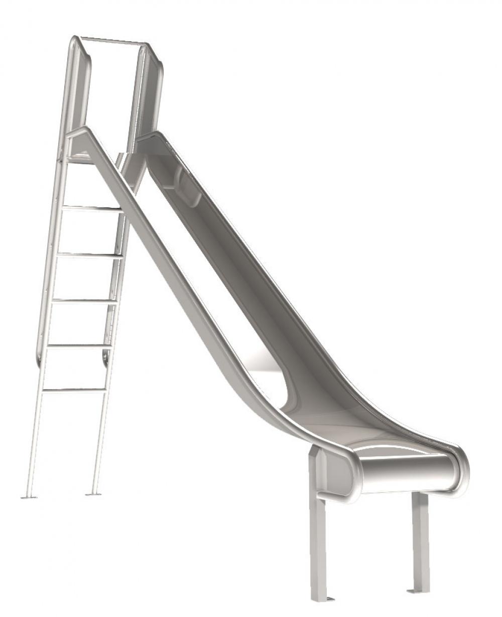 Rutsche mit Leiter aus Edelstahl