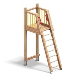 Holzturm mit Leiter