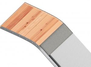 Schallgedämmte Neospiel®-Wellenrutsche zum Anflanschen, breit
