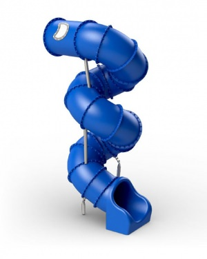 Spiralförmige Röhrenrutsche